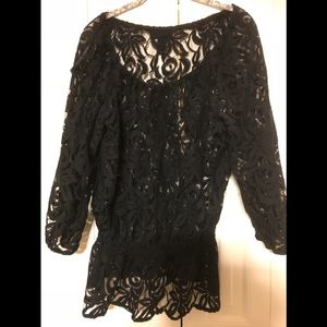 INC International Concepts New Years Lace Top